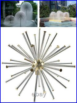 1.5 DN40 Dandelion Fountain Nozzle Stainless Steel Crystal Ball Water Spray Hot