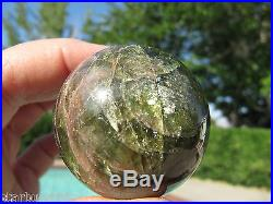 1.57 PINK AND GREEN APATITE SPHERE NATURAL CRYSTAL BALL QUEBEC CANADA 40mm