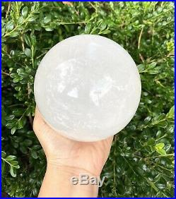 1 Pc 5 Lbs 120mm White Calcite Sphere Crystal Ball Natural Energy Healing
