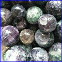 10 Pieces 2-3 Natural Rainbow Fluorite Crystal Spheres Balls Polished Healing