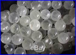 100 Natural Rainbow White Clear Calcite Crystal Spheres Balls healing 27-30mm