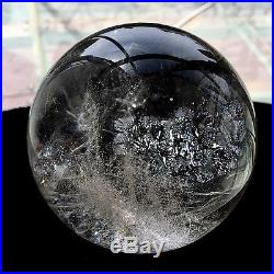 102mm NATURAL CLEAR QUARTZ CRYSTAL SPHERE BALL ranging GEMSTONE + stand