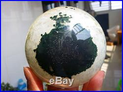 1048g Natural Quartz Crystal In Agate Open Mouth Smile Cave Sphere Ball W2237