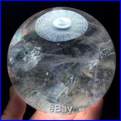105mm Rainbow NATURAL CLEAR QUARTZ CRYSTAL SPHERE BALL HEALING GEMSTON+stand