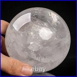 1071g 91mm Large Natural Clear/White Calcite Quartz Crystal Sphere Healing Ball