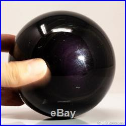 1072g 95mm Large Natural Rainbow Obsidian Quartz Crystal Sphere Healing Ball