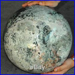 110 lb Large/14 Inch Rare Moss Agate Jasper Crystal Sphere Crystal Ball, Mineral
