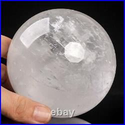 1159g 93mm Large Natural Clear/White Calcite Quartz Crystal Sphere Healing Ball