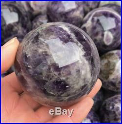 11lb NATURAL Banded Chevron Dreamy amethyst QUARTZ CRYSTAL Sphere Ball Wholesale