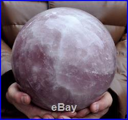 12535g Huge NATURAL rose QUARTZ CRYSTAL SPHERE BALL Healing