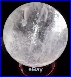 125mm NATURAL CLEAR QUARTZ CRYSTAL SPHERE BALL ranging GEMSTONE + stand