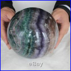 13.03LB 5.9 Natural Rainbow Fluorite Crystal Sphere Ball Polished Healing