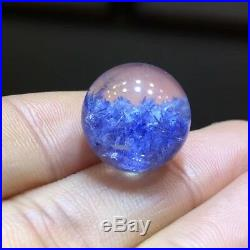 13.2mm NATURAL Clear Beautiful Blue Dumortierite Crystal Sphere Ball Rare