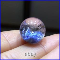 13.5mm NATURAL Clear Beautiful Blue Dumortierite Crystal Sphere Ball Rare
