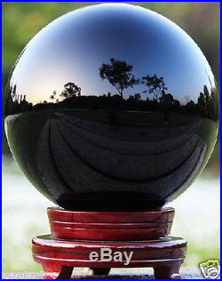 130MM Natural Black Obsidian Sphere Large Crystal Ball Healing Stone