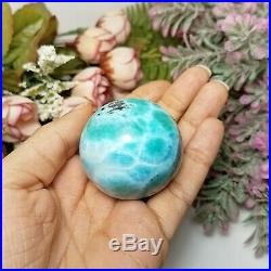 135g Gorgeous Larimar Sphere Crystal Ball Free Shipping Natural Stone Polished