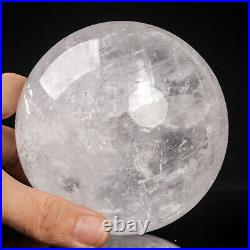1361g 98mm Large Natural Clear/White Calcite Quartz Crystal Sphere Healing Ball