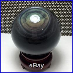 138mm NATURAL Unique rainbow OBSIDIAN POLISHED SPHERE BALL Distinctive
