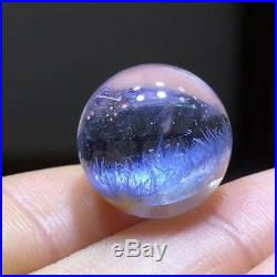 14.3mm NATURAL Clear Beautiful Blue Dumortierite Crystal Sphere Ball Rare