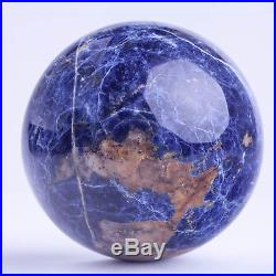 1446g105mm Large Natural Blue Sodalite Quartz Crystal Sphere Healing Ball Chakra