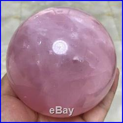1453g Natural pink rose quartz sphere crystal ball mineral STONE healing