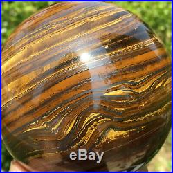 1486g Huge Natural Gold Tigers Eye Quartz Crystal Sphere Ball Healing Mineral
