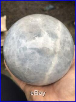 1503g Large Celestite Crystal Ball/Sphere 98mm With Stand 3 AAA+