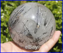 1505g 100mm RARE NATURAL BEAUTIFUL BLACK Tourmaline QUARTZ CRYSTAL SPHERE BALL