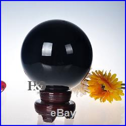 150MM Natural Black Obsidian Sphere Large Crystal Ball Healing Stone