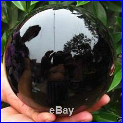 150MM+stand Natural Black Obsidian Sphere Large Crystal Ball Healing Stone AAA