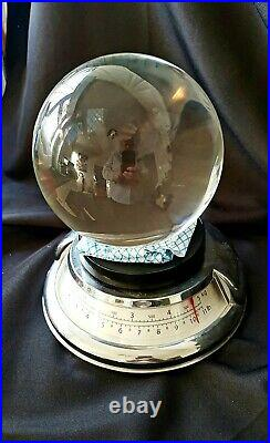 150mm / 15cm Crystal Ball Very Clear With Chest & Wood Stand