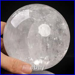 1533g 102mm Large Natural Clear/White Calcite Quartz Crystal Sphere Healing Ball