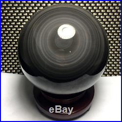 166mm/5640g NATURAL Unique rainbow OBSIDIAN POLISHED SPHERE BALL Distinctive