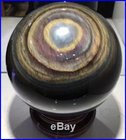 186mm/7870g NATURAL Unique rainbow OBSIDIAN POLISHED SPHERE BALL Distinctive