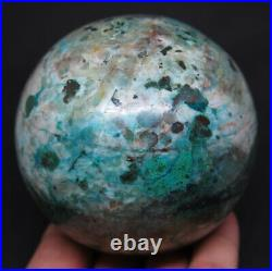 1LB 6OZ Natural Blue Chrysocolla Crystal Sphere Ball