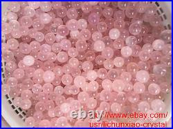 2.2lb wholesale Natural Mozambique ICY Rose Quartz Crystal Sphere Ball Healing
