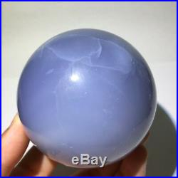 2.550.91lb Natural Blue chalcedony Crystal Sphere Ball Healing Turkey /Stand