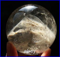 2.75 NATURAL Clear White PHANTOM MULTI-INCLUSIONS CRYSTAL Sphere Ball Healing