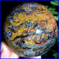 2.79528g WOW! Natural Rare PIETERSITE CRYSTAL Sphere Ball Healing ic3666