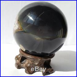 2.99 Natural Geode Amethyst Agate Sphere Ball Decor Crystal Healing Reiki/Stand