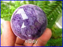 2 Pieces RARE NATURAL Charoite Beads quartz crystal sphere ball healing