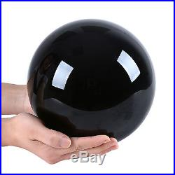 200MM Natural Black Obsidian Crystal Healing Ball Sphere ORB + Wood Stand Box