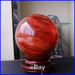 200mm Red Asian Rare Natural Quartz Magic Crystal Healing Ball Sphere + Stand