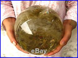 22.29lb Rainbow NATURAL Citrine quartz crystal sphere ball healing