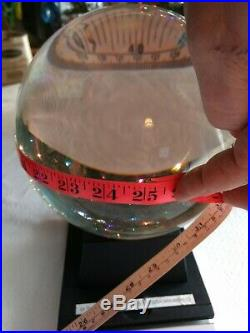 24LB Large Crystal Glass Sphere Ball with 3LB Stand Healing, Photography, in USA