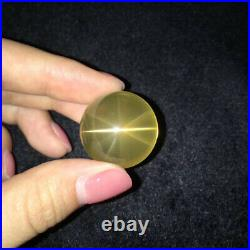 24mm TOP! Natural Clean Star Citrine Quartz Crystal Jewelry ball Sphere