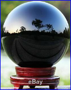 250MM Natural Black Obsidian Sphere Large Crystal Ball Healing Stone
