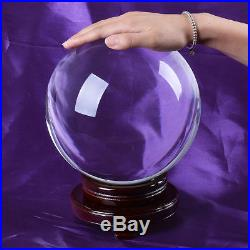 250mm Huge Asian Rare Quartz Clear Magic Crystal Healing Ball Sphere +Wood Stand