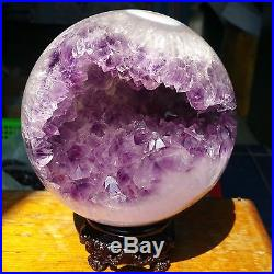 2880g Natural Amethyst & Agate Crystal Sphere Ball Shark's mouth teeth W401