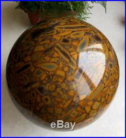 29 pounds Bamboo Stone Sphere, Crystal Rock Ball Healing